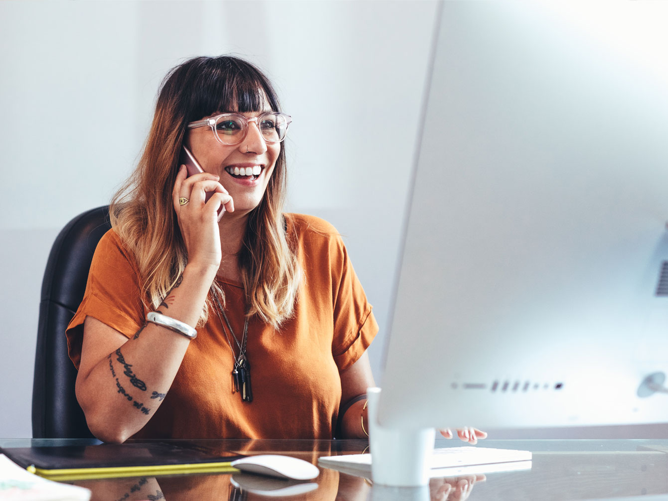 Employee wellbeing advice on the phone